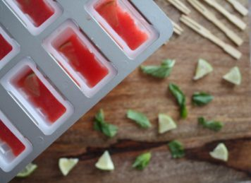 Spiked Watermelon Mint Pops (Happy National Tequila Day)